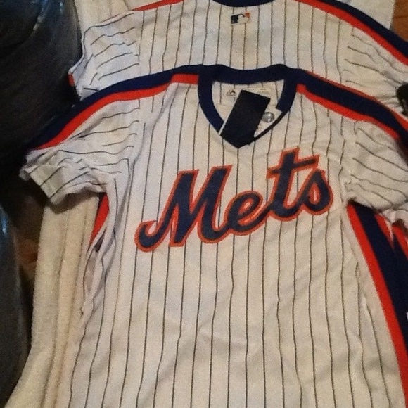 info for 3d05c 84612 Authentic New York Mets Jersey 80's Mets majesitc NWT